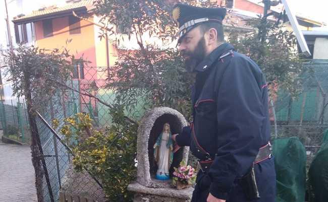 carabinieri vallemosso madonnina rubata