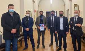 I consiglieri della Lega con il vicepresidente Carosso e lonorevole Tiramani