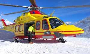 elicottero 118 neve montagna